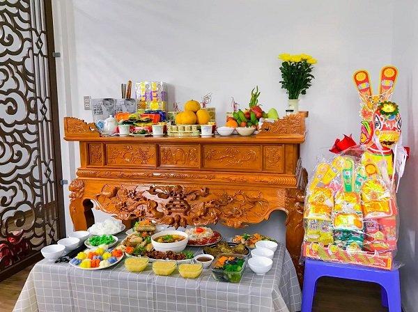 hình ảnh trang trí bàn thờ ông công ông táo